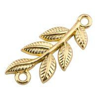 Wholesale fortune necklace - My Shape Gold Color Leaf Charm Pendant Jewelry for DIY Necklace Bracelet Meaning Wealth And Good Fortune As Best Gift