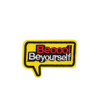 Wholesale Sticker Text - 10PCS Text Embroidered Patches for Clothing Iron on and Sew Accessories Stickers for Garment Jeans Bags DIY