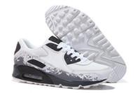 top yastıklı koşu ayakkabıları toptan satış-Sıcak Satış Erkekler Sneakers Ayakkabı Klasik 90 Erkekler Koşu Ayakkabıları Toptan Drop Shipping Spor Eğitmeni Hava Yastığı Spor Ayakkabı