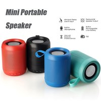 Wholesale Wireless Bluetooth Speakers Stereo Portable Mini Speaker Subwoofer Stereo Sound with W Strong Driver Support TF Card FM Radio Aux