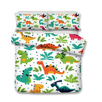 Wholesale Q Edition Dinosaur Pattern Printed Bedding Sets All Sizes Pillow Case Quilt Cover Duvet Cover No Filler