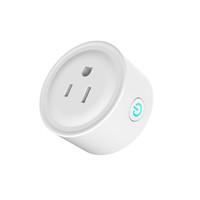 ferngesteuerte zeitschaltuhr großhandel-Smart Wifi Socket Switch Runde US-Stecker Fernbedienung Steckdose Zeitschaltuhr für Smartphone Android IOS Home Automation