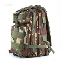 свободные военные рюкзаки оптовых-Практические популярные Спорт на открытом воздухе камуфляж рюкзаки военные энтузиасты восхождение пакет на ноги рюкзак плечи 3 p тактика DHL бесплатно