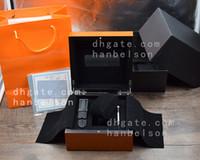 sartenes de goma al por mayor-Cacerola Caja de regalo original de madera de reloj naranja con tarjetas y folleto Incluye correas de repuesto y accesorios 1860