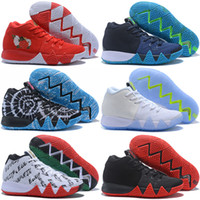 Wholesale Gold Table Confetti - BHM Confetti Obsidian Kyrie 4 CNY EP Black White Men Basketball Shoes Kyrie 4s IV Red Green mens trainer Sports Sneakers 40-46