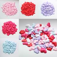 konfeti yaprakları toptan satış-100 adet / torba Simülasyon Yaprakları Parti Düğün Dekorasyon El Yapımı DIY Aşk Sevgililer Günü Konfeti Çiçek Yaprakları WX9-271