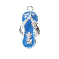d679eefdd168 Wholesale flip flop charms online - 2pcs mm Trends Metal Flip Flop Charm  DIY Bracelet Necklace
