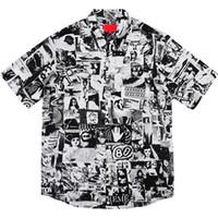 titreşim kutusu toptan satış-Yeni Kutu Logosu Titreşimler Rayon Gömlek Kısa Kollu Nostaljik Vintage Hawaii Tişört Casual Sokak Yaz Serin Plaj Tatil Tee HFYMTX352