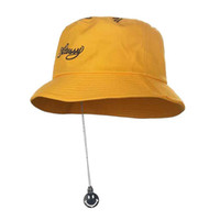 Metal Smile Pendant Design Men s Bucket hat hip hop Boonie Flat Fisherman  Hats Men Women Street Dancer Beach Sun Hat 7363b60fc0