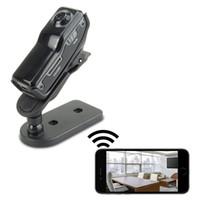 ingrosso dv telecamera remota-Mini videocamera IP Wifi DV Videocamera portatile Videoregistratore Supporto iPhone APP per Android Visualizzazione remota MD81 MD81S