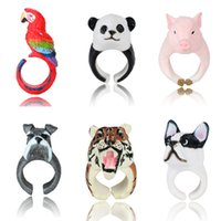 Wholesale tin cans for gifts - vintage rings cute animal rings can adjustable size luxury gift for woman and kids ring Upscale Bohemia type fashion Jewelry 1pc set rings