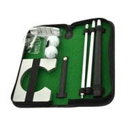 Wholesale golf gift sets - Portable Golf Putter Practicee Set Travel Indoor Golfs Ball Holder Putting Training Aids Tool With Carry Case Gifts B2Cs