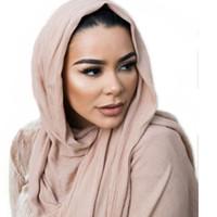 гладкие джерси-шарфы оптовых-High quality plain women muslim 100% rayon stripe jersey scarf hijab