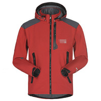 Wholesale softshell men - Men's Waterproof Breathable Softshell Jacket Men Outdoors Sports Coats Women Ski Hiking Windproof Winter Outwear Soft Shell jacket