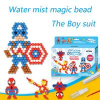 brinquedos mágicos contas venda por atacado-Hot Água contas Aqua brinquedos pegajosos perler beads pegboard set grânulos de fusível jigsaw puzzle bead bond magia educacional crianças brinquedos