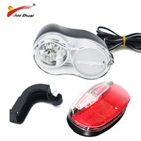 führte 36v licht großhandel-JS Ebike Licht 36V 48V Fahrrad Horn LED Frontscheinwerfer mit Horn und Rücklicht Brighting Scheinwerfer und Rücklicht wasserdicht