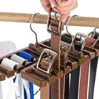 organisatoren für schränke groihandel-Kunststoff Krawatte Gürtel Schal Rack Organizer Closet Kleiderschrank Space Saver Gürtel Kleiderbügel mit Metallhaken Freies Verschiffen