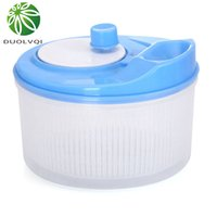 Wholesale vegetable storage baskets resale online - Eco Friendly Vegetables Dryer Salad Spinner Fruits Basket Fruit Wash Clean Basket Storage Washer Drying Machine Useful Kitchen Tools