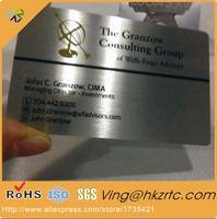 design de cartão conhecido venda por atacado-design livre logotipo personalizado / palavras 0.35mm de espessura 80 * 50mm cartão de nome de metal preto