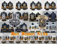 Wholesale youth hockey cup - 2018 Stanley Cup Finals Vegas Golden Knights Jersey 29 Marc-Andre Fleury James Neal Erik Haula Nate Schmidt Hockey Men Women Youth Inaugural