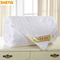Wholesale Chinese Silk Quilts - SMAVIA Premium Chinese Mulberry Silk Quilt 100% Silk Comforter 100% Cotton Embossing Fabric Cover Winter Spring Blankets 2kg-4kg