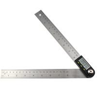 medidor de nível digital venda por atacado-200mm Digital Transferidor Inclinometer Goniômetro Ferramenta de Medição de Nível Eletrônico Angle Gauge Régua De Ângulo De Aço Inoxidável