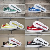 Wholesale Old Pvc Women - Newest Right Revenge x Storm Old Skool Green Blue Black Red Yellow Mens Women Casual Shoes Kendall Jenner Ian Connor Skate Sneakers With Box