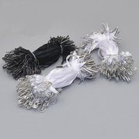 Wholesale wholesale safety pins - 1000 pcs Premade Hang Tag Cord with Safety Pin Garment Price Swing Tag DIY String Cord