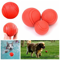 Wholesale Elastic Rubber Ball - Pet Dog Ball Rubber Elastic Ball Bite Resistant Training Chew Play Toy TPR Rubber Chew Toy OOA3987