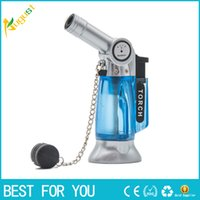 Wholesale camping gas flame for sale - Group buy Hot Sale New GF Windproof Refillable Lighter Gas Jet Flame Torch Welding Camping NO GAS Big Torch lighter Random Color
