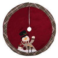 ingrosso pannello esterno di natale del grembiule-Gonna dell'albero di Natale di Babbo Natale Ornamenti di festa di tappeti Decorazione natalizia per la casa Pupazzi di neve Grembiuli gonna natalizia 105cm