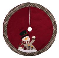 schürze weihnachtsbaum rock großhandel-Weihnachtsmann Weihnachtsbaum Rock Teppich Party Ornamente Weihnachtsdekoration für Home Schneemänner Weihnachtsbaum Rock Schürzen 105cm