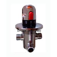 Wholesale Mixer Thermostatic Valve - Brass thermostatic valve , DN15 thermostatic valve, solar heater valve, thermostatic mixer