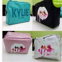 sacos de recolha limitado venda por atacado-Kylie Cosmetics Bolsas por Kylie Jenner Coleção de Férias Make-Up Bag Edição Limitada Kylie Makeup Collection Bags Free