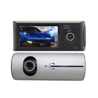 """Wholesale digital camcorder microphone - Dual Camera Car DVR R300 GPS and 3D G-Sensor 2.7"""" TFT LCD Cam Video Camcorder Cycle Recording Digital Zoom"""