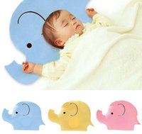 Wholesale baby shaping pillow - Baby Shaping Pillow Soft Cotton Lovely Cartoon Sleep Head Positioner Anti-rollover Elephant Head Protection Newborn gift