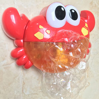 Cute Funny Crab Music Bubble Maker Machine Blower Toy With Songs Kids Baby Bath Bubble Shower Toy