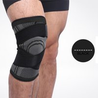 эластичные спортивные повязки колено оптовых-Sports Knee Sleeve 3d Pressurized Fitness Running Cycling Bandage Leg Protector Pad Elastic Nylon Knee Cap