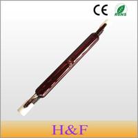 Wholesale infrared heating tubes online - HoneyFly Hotsale J118 V W W Infrared Halogen Lamp Bulb Tube Twin Spiral for Heating Drying Quartz Tube Glass