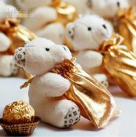 pequeñas cajas de favores de la boda al por mayor-2018 Cute Hi-Q Little Bear Haversack Bolsa de caramelo Favores de boda Suministros Suministros Bolsa de regalo Cajas 50 sets / lote Envío gratis