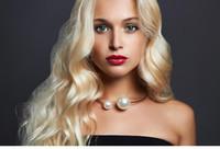 bohemia crystal necklaces toptan satış-Bohemia Moda Kadınlar İnci Boncuk Chokers kolye ile Kristal Rhinestone Açılış Boyutu Tork