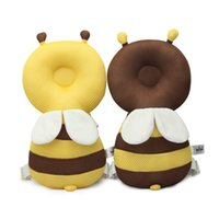 Wholesale protection baby online - Baby Walker Walking pad cute honeybee cartoon Baby Head bolster Safety Toddler Falling Protective Cap Baby Head Protection Pad Helmet KAF12