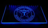 Wholesale gas signs - F927 TEXACO-PORCELAIN-GAS-PUMP-Bar NEW 3D LED Neon Light Sign Retail and Dropshipping Wholes 8 colors Customize on Demand