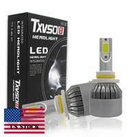 Wholesale Led Fog Light Bulb High - Car LED Headlight Integrated 9006 HB4 High Beam Fog Light Bulbs kits lip Chips Adjustable Beam Pattern 60W 9200L M0007
