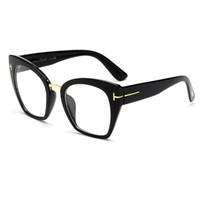 Wholesale plain fashion glasses for women - NEW Fashion Glasses Tom High Fashion Designer Brands For Women Glasses Cateyes oculos feminino de sol S9041