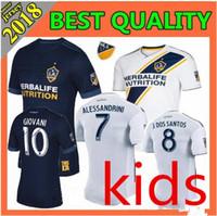 Wholesale Children S Sports Suits - LA Galaxy Soccer Jersey kids kit 2018 19 IBRAHIMOVIC GIOVANI ZARDES GERRARD children Football new 18 19 LA Galaxy kids Sport football suit