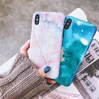 Wholesale Gel Mobile Phone Covers - 2018 Newest Fashion Marble Stone Case Silicone IMD Mobile Phone Cases for iPhone X 6 7 8 Soft Gel All-inclusive Protective Cover