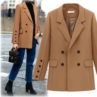 Wholesale Cashmere Blazer Women - 2018 Women Tops Suits Casual Office Winter Spring Business Suits Formal Work Wear for Woman Uniform Styles Elegant Suits