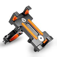 montaje del teléfono para el ciclo al por mayor-Sostenedor universal del teléfono móvil de la aleación de aluminio fijo / sujetador giratorio soporte del ciclo del manillar de la bicicleta de la bici de la motocicleta