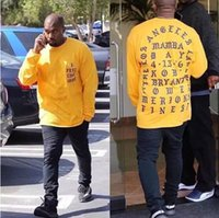 ingrosso casual tee sport donne-Kanye West MI SENTO COME KOBE Lettera Stampa T-shirt a manica lunga Uomo Donna Allentato casuale Hip Hop Sport Tees Lovers Street T-shirt Top